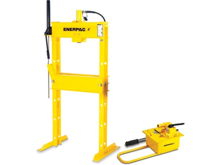 Iph10080 100 Ton H Frame Hydraulic Press With Hand Pump