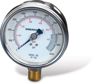 Hydraulic Pressure and Force Gauges | Enerpac
