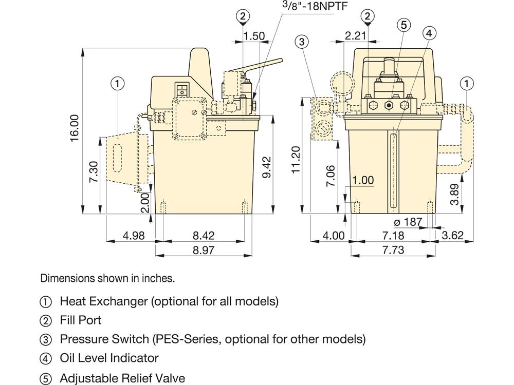 pem1401b, two speed, electric submerged hydraulic pump, 4 3 manual Guitar Wiring Diagrams