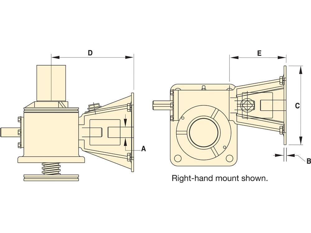 UMA15, Mechanical Actuator Motor Adaptor for M10 and B10 Actuators ...